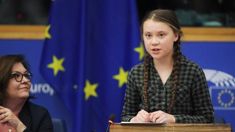 Teen climate activist warns EU it's time to panic