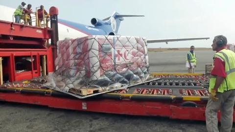 First Red Cross aid arrives in Venezuela