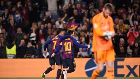 Barcelona hammer Manchester United to reach Champions League semis