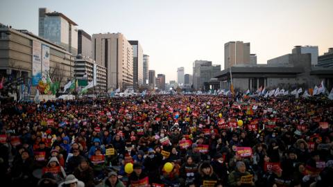Seoul sees massive but peaceful protest against impeached president