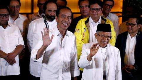 Indonesia President Joko Widodo declares victory in presidential race