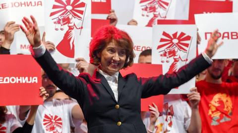 Interview with North Macedonia's presidential hopeful Gordana Siljanovska