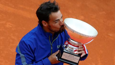 Tennis: Fognini beats Lajovic to win Monte Carlo Masters