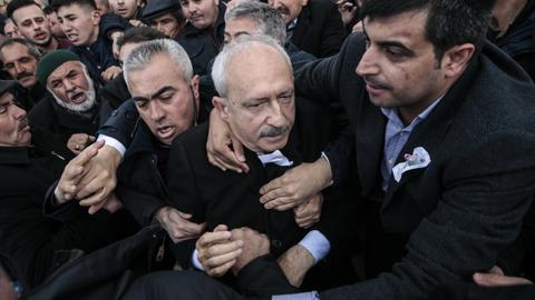 Erdogan denounces assault on CHP leader