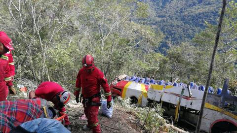 Bus crash in Bolivia leaves 25 dead