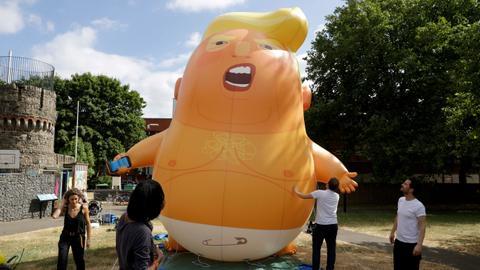 'Prepare the Trump baby' - Britons prepare for Trump's visit