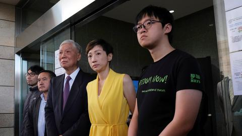 Hong Kong democracy leaders jailed over Umbrella Movement protests