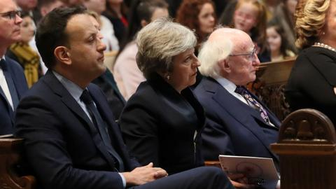 British and Irish leaders attend funeral of murdered journalist Lyra Mckee