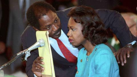 US presidential candidate Biden says he did not treat Anita Hill badly