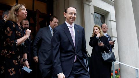 US deputy attorney general Rosenstein, who appointed Mueller, resigns
