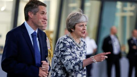 May sacks UK defence minister Williamson over Huawei leak