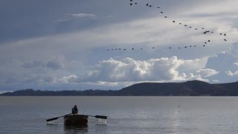 Ecosystem and life around Lake Titicaca threatened by pollution
