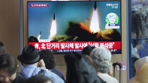 North Korea fires several short-range missiles into sea