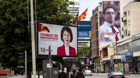 Polarised North Macedonians vote for president