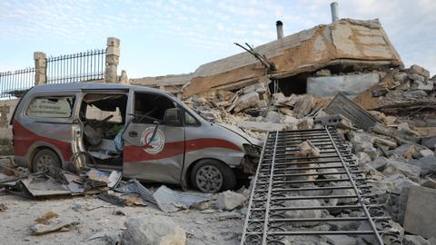 Air raids hit three hospitals in Syria's Idlib – monitor