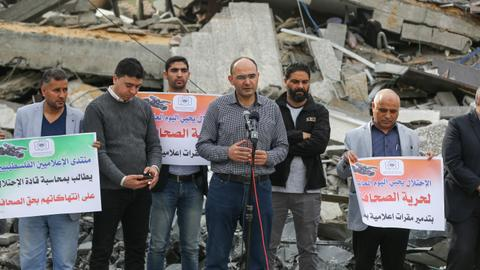 Israeli strikes destroyed a press agency in Gaza - this is their work
