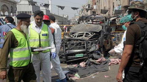 Bomb outside Sufi shrine kills at least eight in Pakistan's Lahore