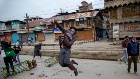 Protests erupt after two rebels killed in disputed Kashmir