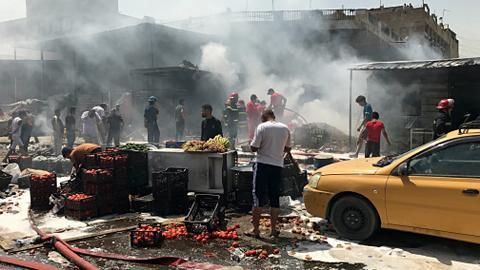 Baghdad suicide bomber kills at least eight civilians