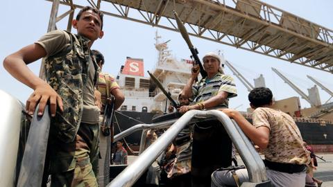 UN says Houthis pullout from Yemen ports on track