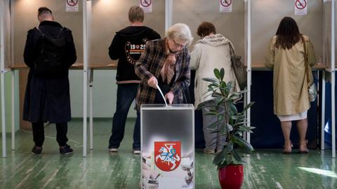 Lithuania's presidential contest heads to runoff vote