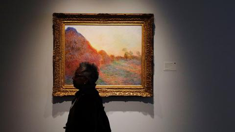 Claude Monet's Haystack painting fetches $110.7 million at auction