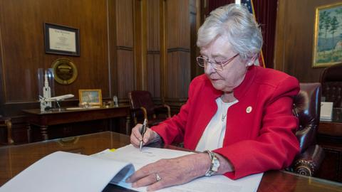 Alabama governor signs toughest US abortion ban into law