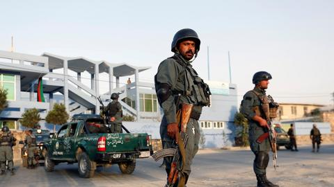 Air strike kills eight policemen in Afghanistan - official