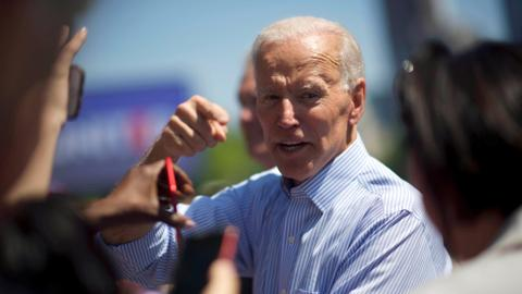 Biden kicks off presidential campaign with anti-Trump theme