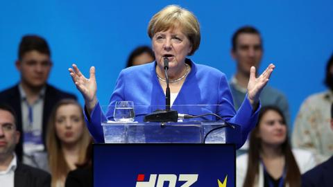 Merkel calls for Europe to stand up against far-right politics