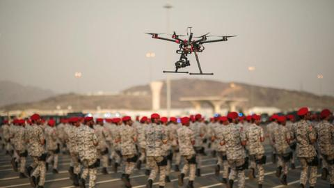 It's a game of drones over Saudi Arabia