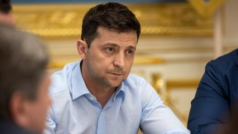 Ukraine's comedian-turned president strikes an aggressive tone