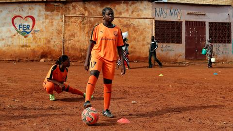 Cameroonian girls defy prejudice to pursue football dreams