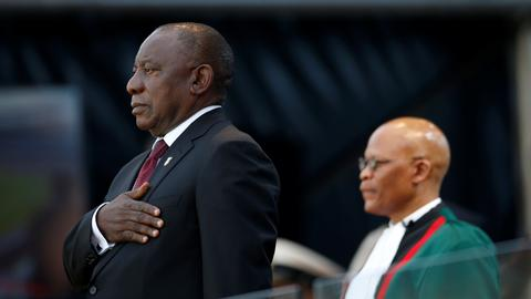'Huge' challenges as Ramaphosa takes oath in South Africa