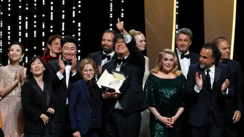 South Korean social satire 'Parasite' wins top prize at Cannes