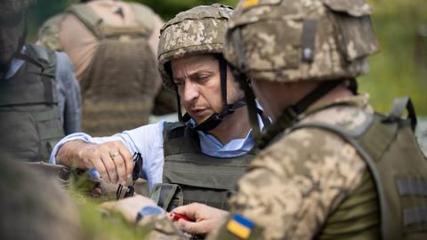 Ukraine's Zelenskiy visits frontline positions in Luhansk region