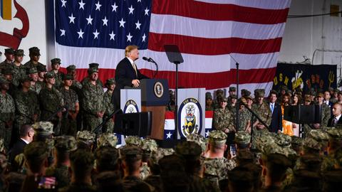 Trump touts US military power in Pacific as he wraps up Japan visit