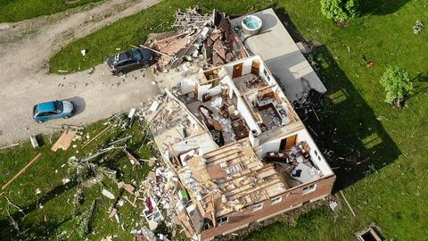 One dead, 130 injured as multiple tornados rip through Ohio and Indiana