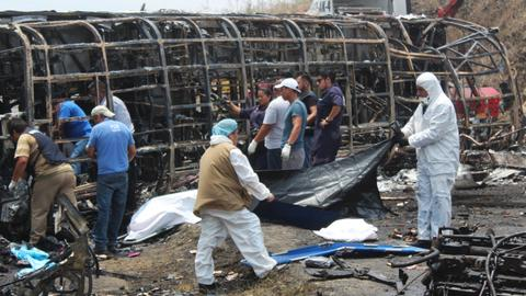 21 killed in fiery Mexico road accident - officials