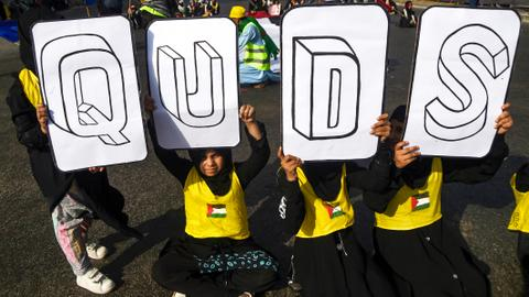 In pictures: Quds Day rallies pledge support to Palestine