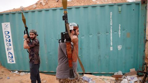 Libyan government forces battle Haftar's forces near capital