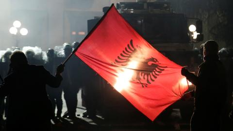 Opposition in Albania on the streets again, calling for new election