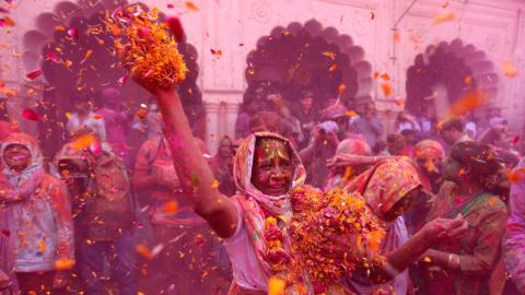 A riot of colour: Holi in pictures