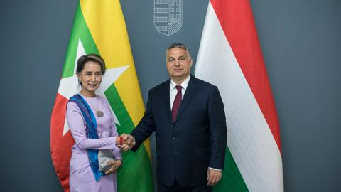 Aung San Suu Kyi and Viktor Orban discuss 'Muslim population challenge'