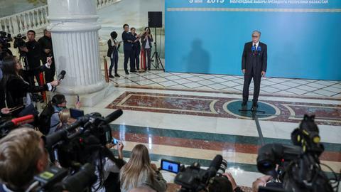 Incumbent Tokayev wins Kazakh presidential vote - exit poll