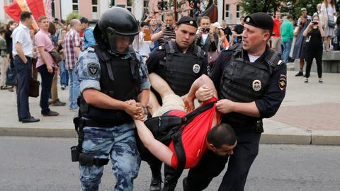 Over 400 people detained at Moscow march - monitor