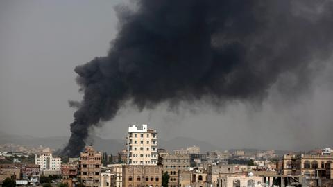 Air strikes hit near Yemen's capital - TV, residents
