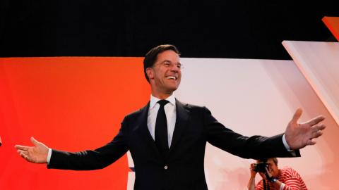 European leaders congratulate Rutte on election victory