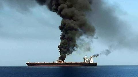 US says Iran took mine off tanker; Iran denies involvement