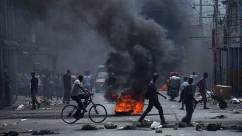 Haiti protesters call on president to resign